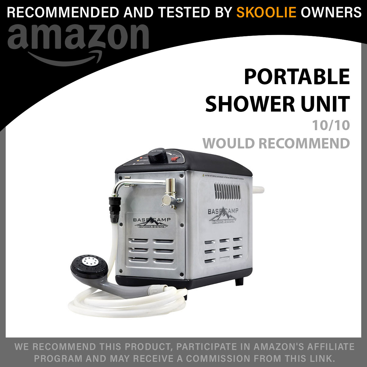 Basecamp Battery Operated Shower System