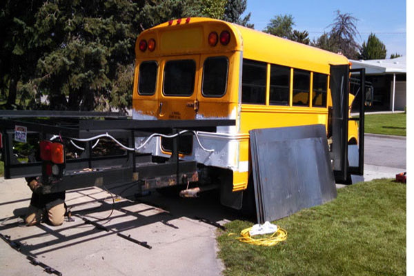 Weld A Snowmobile Deck and Paint The Bus - Bus Life Adventure