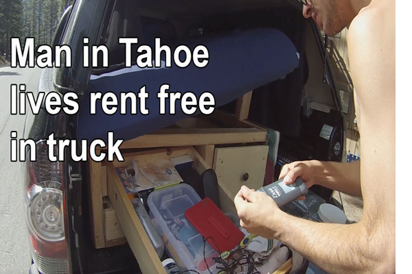 VIDEO - Truck Conversion - Man In Tahoe Living Rent Free