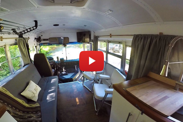 VIDEO - 1998 Blue Bird School Bus Conversion By Keaton and Nicole Autrey