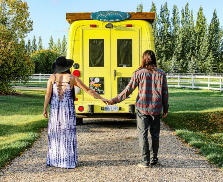 Bus Vanlife Couple Logan Booke Determined Life