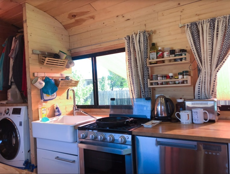 Kitchen 2 Skoolie Bus Conversion Tincan Castle