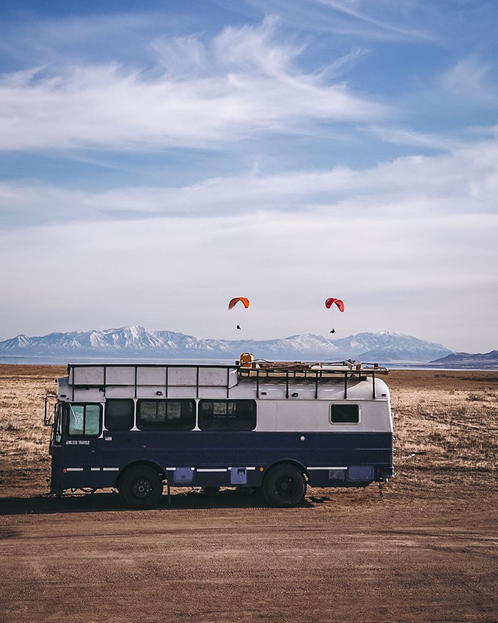 bus life adventure skydiving skoolie conversion