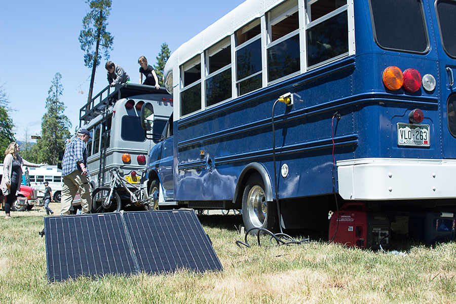 Solar Panels With Skoolie Bus Fair