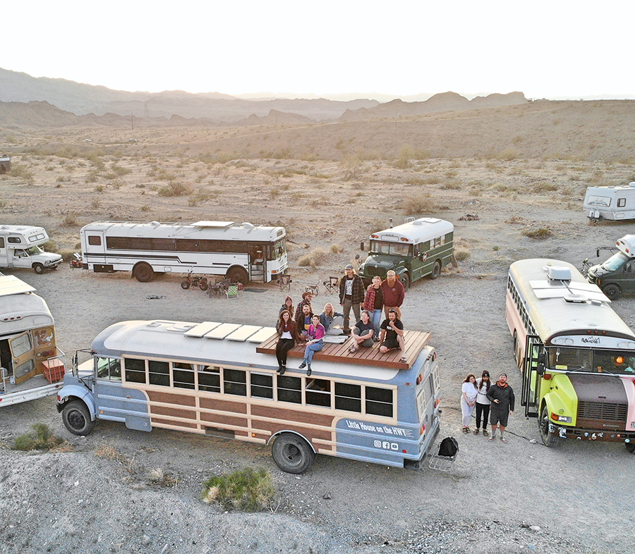 not so lonely existense lake havasu little house highway bus conversion