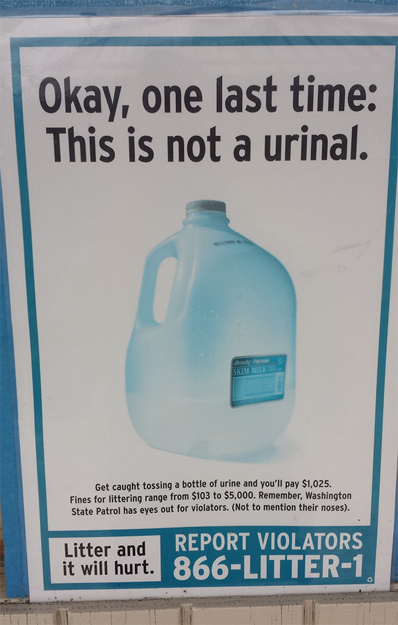 not urinal jug
