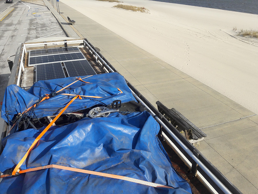 solar panels storage roof deck