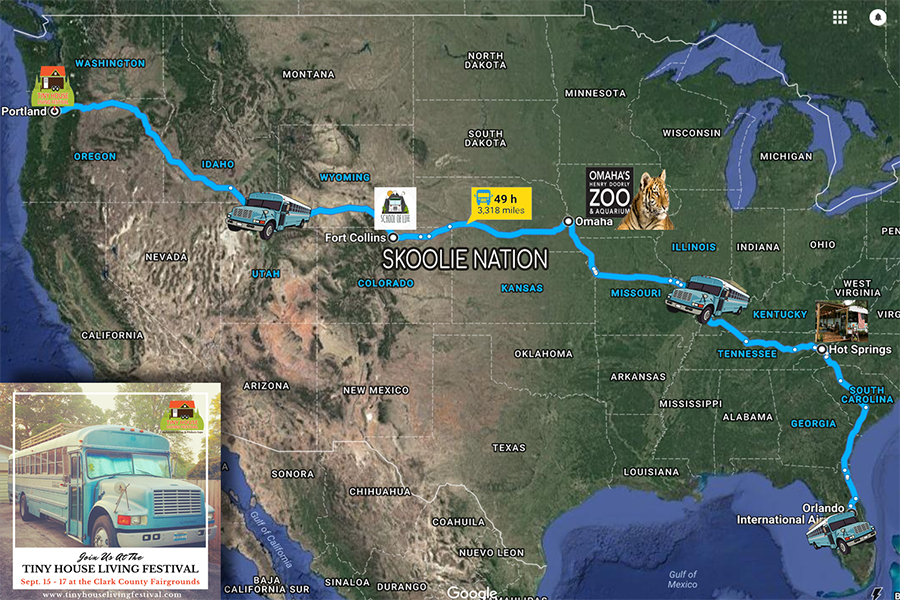 skoolienation bus life adventure skoolielove road trip map